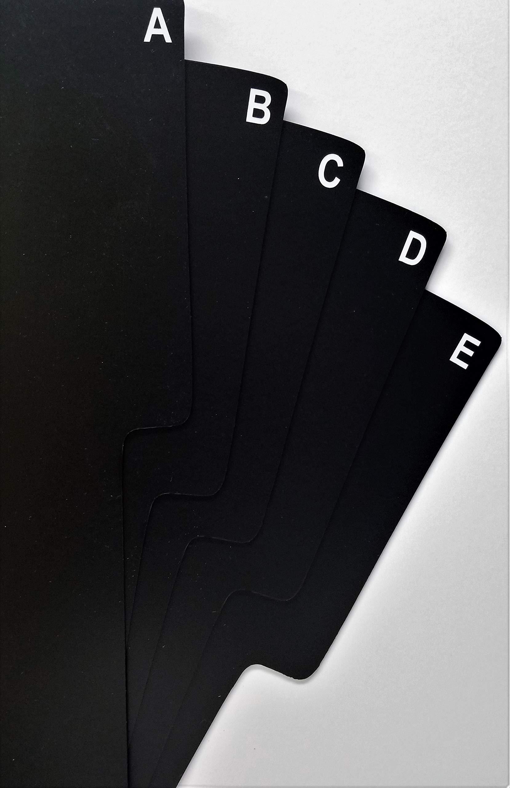 A-Z Shelf Divider Cards Custom Black 32pc for LP Vinyl Record Albums +Bonus ~ IKEA kallax expedit by Sleevie Wonder