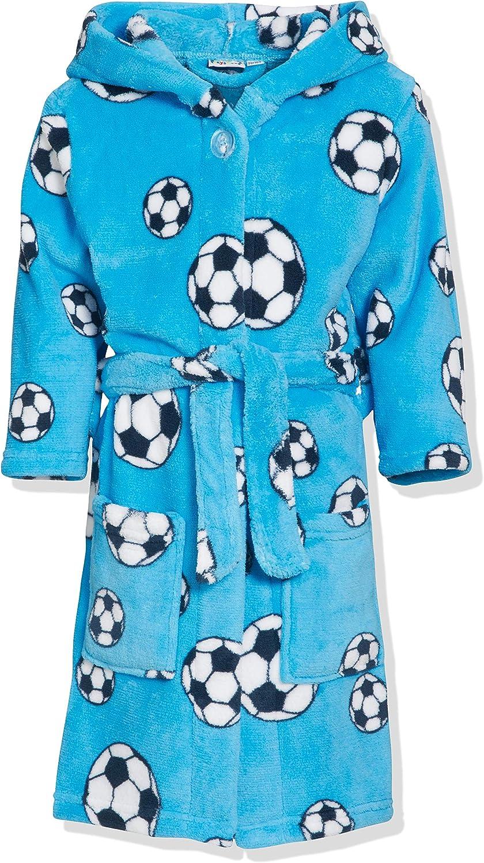 Playshoes Fleece-Bademantel Fußball Albornoz para Niños