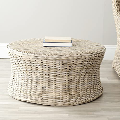 Safavieh Home Collection Ruxton Ottoman, Natural