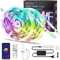 WiFi Tiras LED 20M RGB Música, Compatible con Alexa y Google Home HOVVIDA Luces de Tiras LED 5050 12V para Habitación…