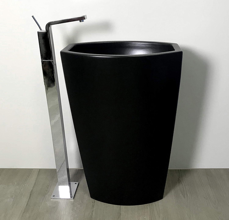 SchwarzHochglanz Generischer Waschbecken freistehend, MattSchwarzGSI