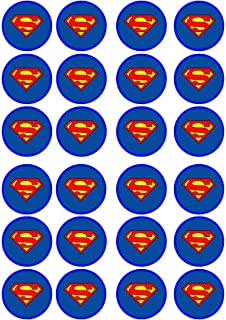 Amazoncom 12 EDIBLE Superman Cupcake Toppers superman cupcakes