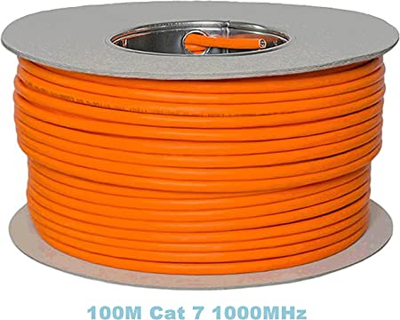 Reulin 100m Cat 7 Reel Ethernet Cable Halogen Free 1000 Amazon Co Uk Electronics