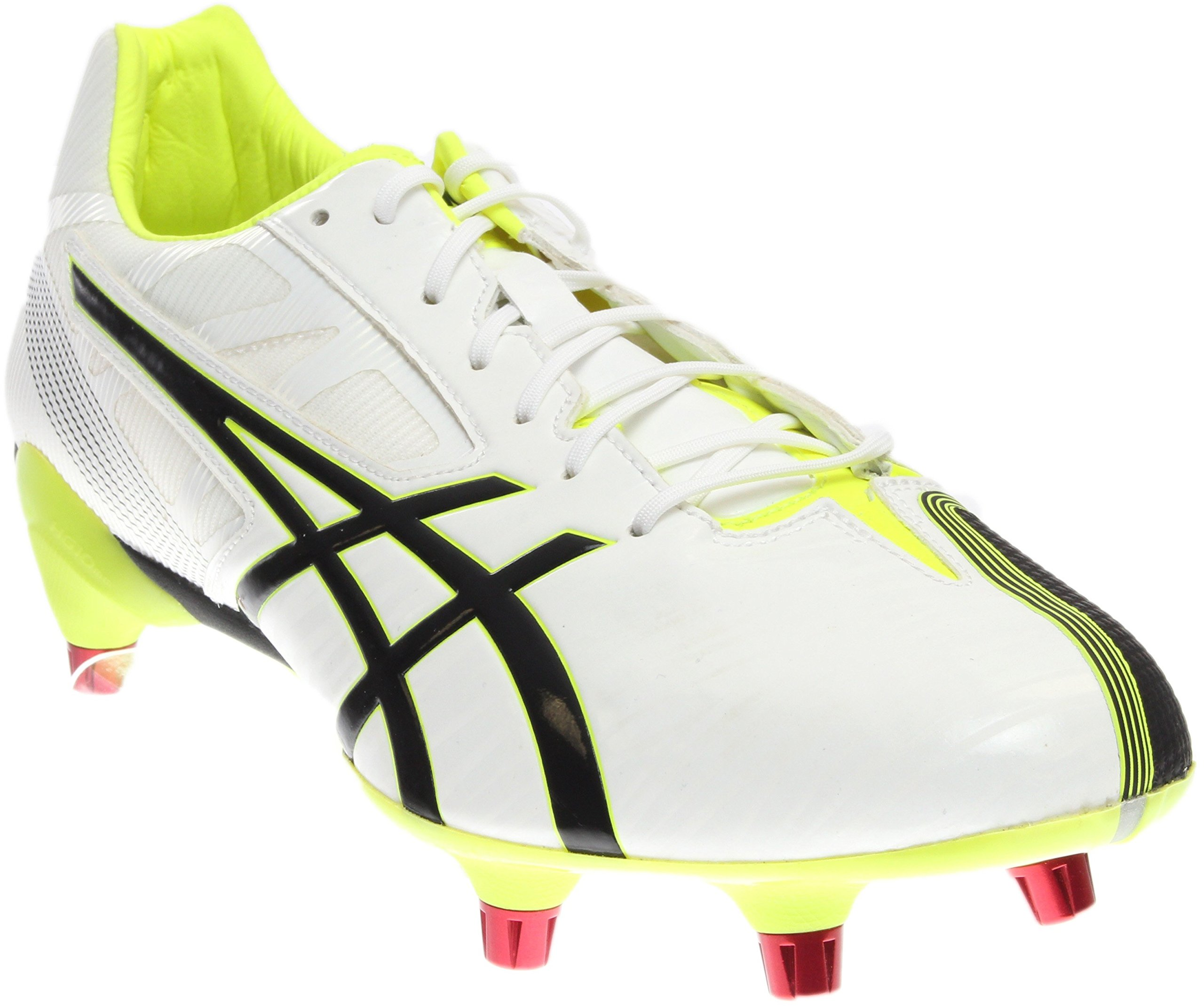 ASICS Men's GEL-Lethal Speed White/Black/Flash Yellow Rugby Shoe - 11 D(M) US