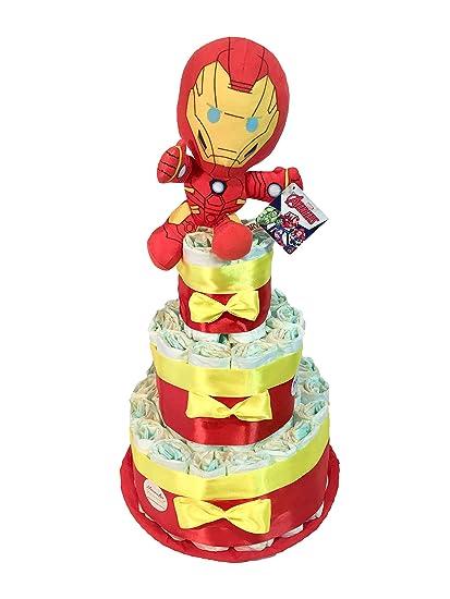 Tarta de pañales DODOT The Avengers Iron Man (Talla 2 (3-6 kg
