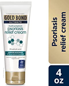 Gold Bond Ultimate Psoriasis Relief Cream, 4 Ounce, Contains Salicylic Acid to Help Control Reoccurrences of Psoriasis Symptoms, Helps Irritated, Itching, Scaling Skin Feel Soothed and Comfortable