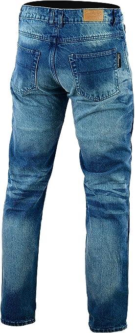 Bikers Gear Australia Limited Gefüttert Mit Kevlar Classic Motorrad Jeans Schutz Stone Wash Denim Gr 34r Bekleidung