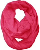 Peach Couture Soft and Warm Lightweight Cold Weather Solid Infinity Loop Scarf