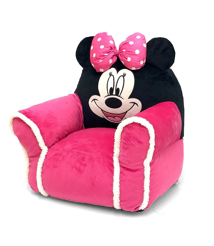 Swell Minnie Mouse Figural Bean Bag Chair With Sherpa Trim Creativecarmelina Interior Chair Design Creativecarmelinacom