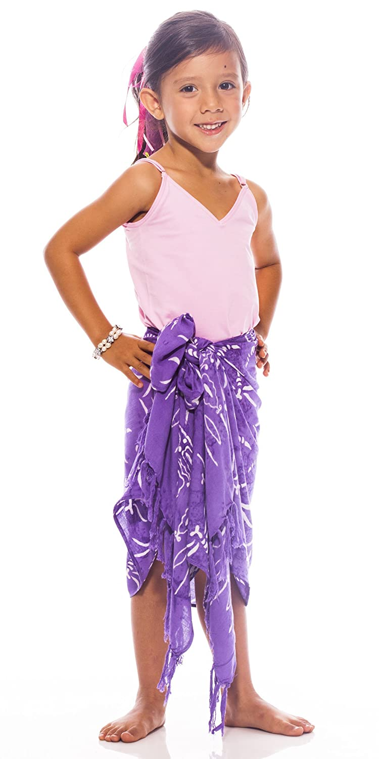 1 World Sarongs Girls Dragonfly Half Sarong KIDS-SARONG-KD-HALF-DF-5