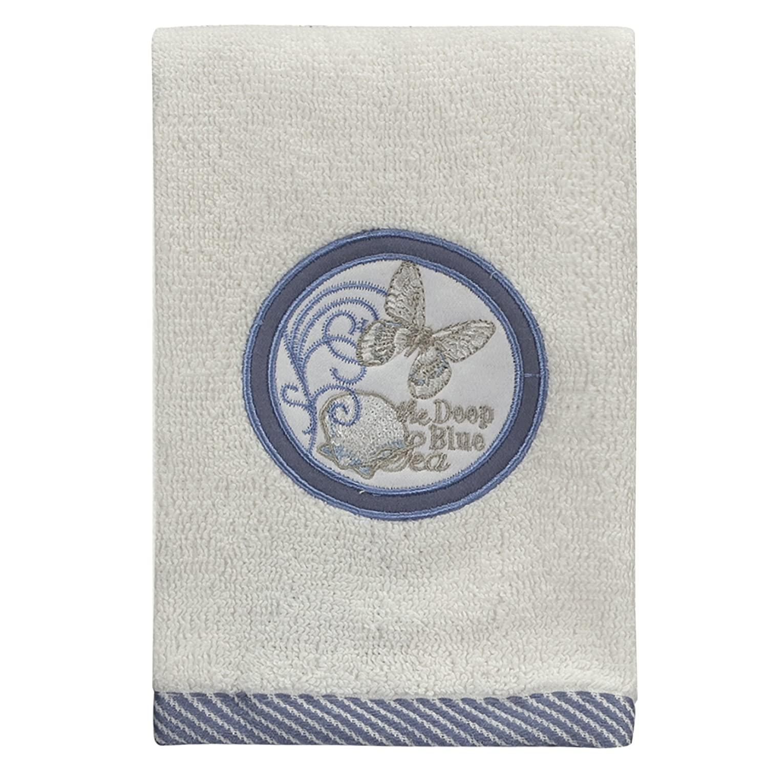 Creative Bath Products Seaside Embroidered Fingertip Towel