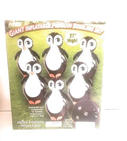 Amazon.com: Etna inflable gigante pingüino Juego de bolos ...