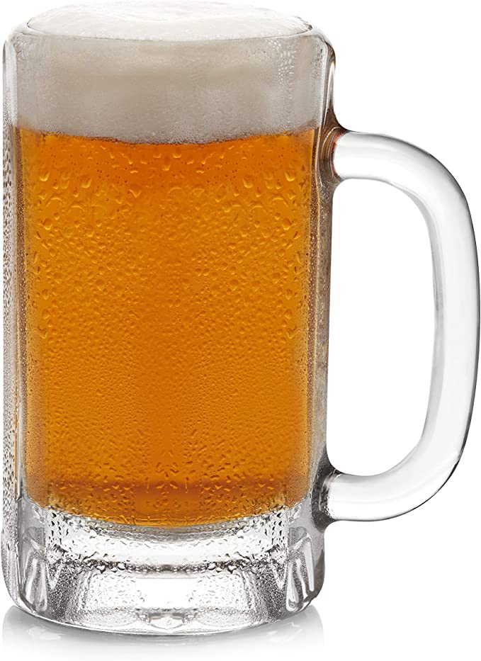 Amazon Com Libbey Heidelberg Glass Beer Mugs 16 Ounce Set Of 4 Beer Glasses Beer Mugs Steins