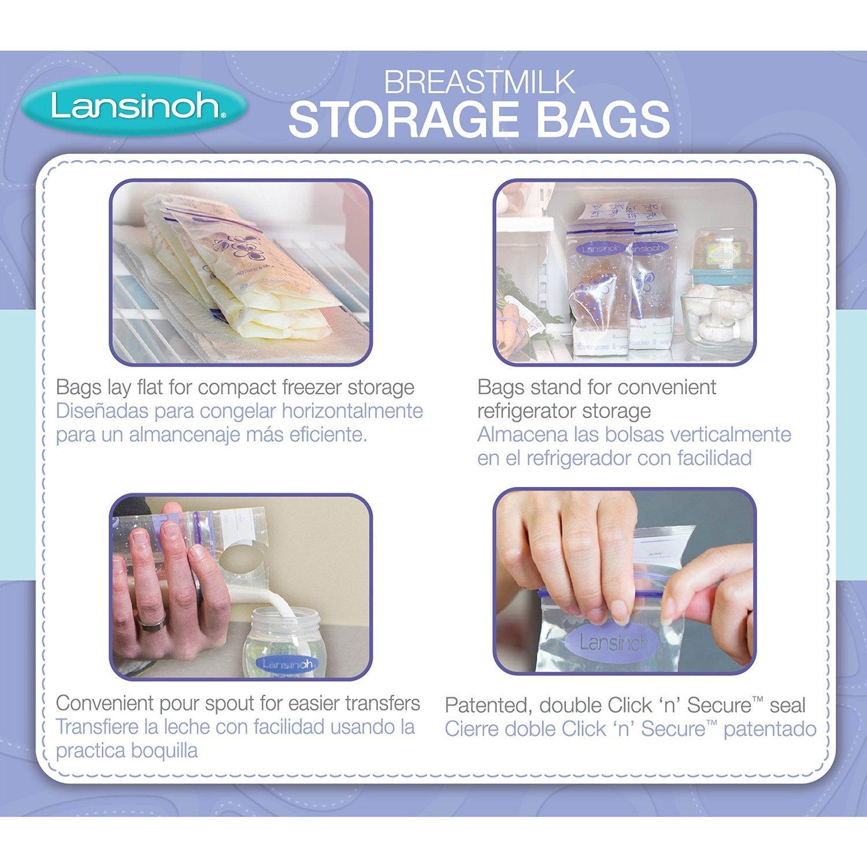 Amazon.com : Lansinoh Breastmilk Storage Bags, 100 Count ...