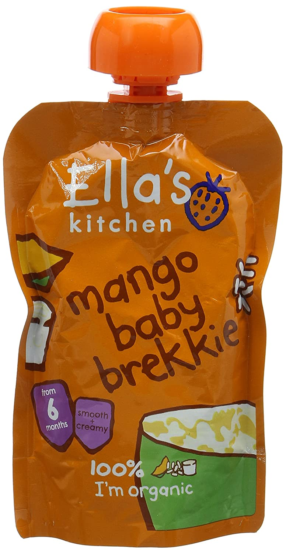 Ella's Kitchen Organic Baby Brekkie Mango 100 g (Pack of 6) Ella's Kitchen EK047