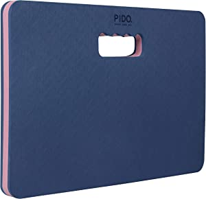 WWWW Thick Kneeling pad Extra Large Soft Comfortable and Eco-frinedly TPE Foam Mat for Gardening, Baby Bath, Exercise & Yoga and Various Housework, 17.3 x 10.6 inch and 3/4 Inch - Pink Navy