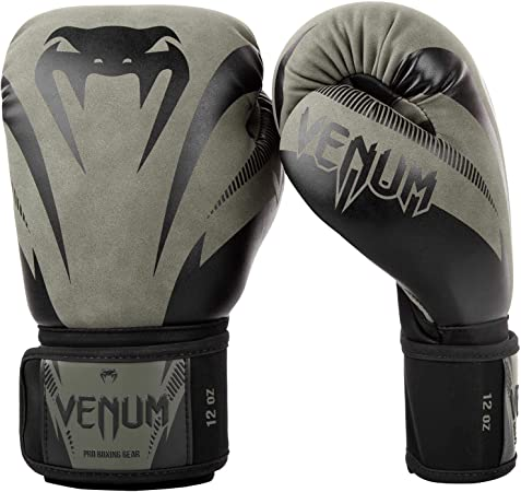 12 oz Unisex-Adult VENUM Impact Guantes de Boxeo Negro//Rojo