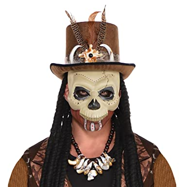 Amazon.com: Witch Doctor Mask Costume Accessory: Clothing