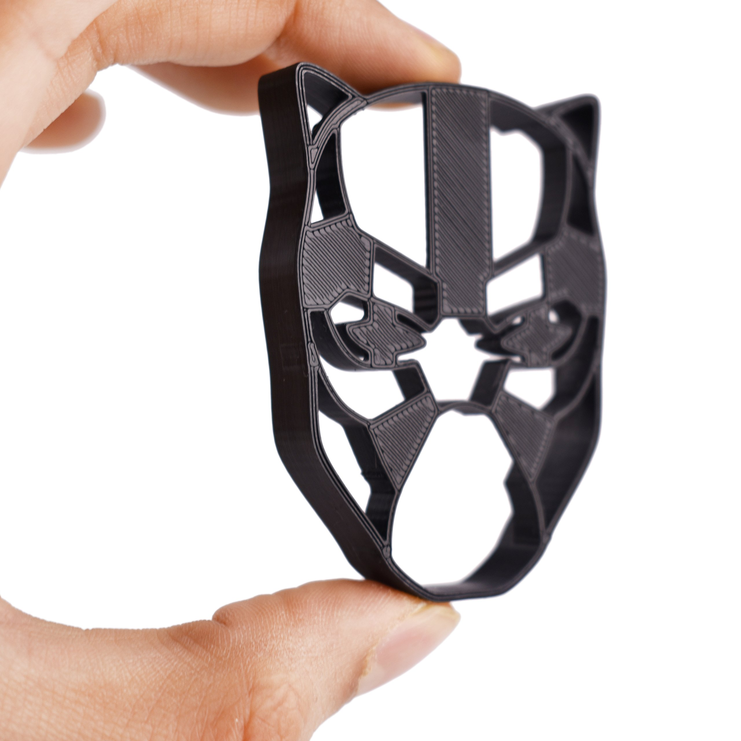 Black Panther Cookie Cutter & Fondant Cutter Classic Superhero Black Logo for Kids and Parents - Perfect for Cookies Cake Decorating Cupcake Toppers (1 Medium 2'' x 3'') by Bakelights (Image #2)