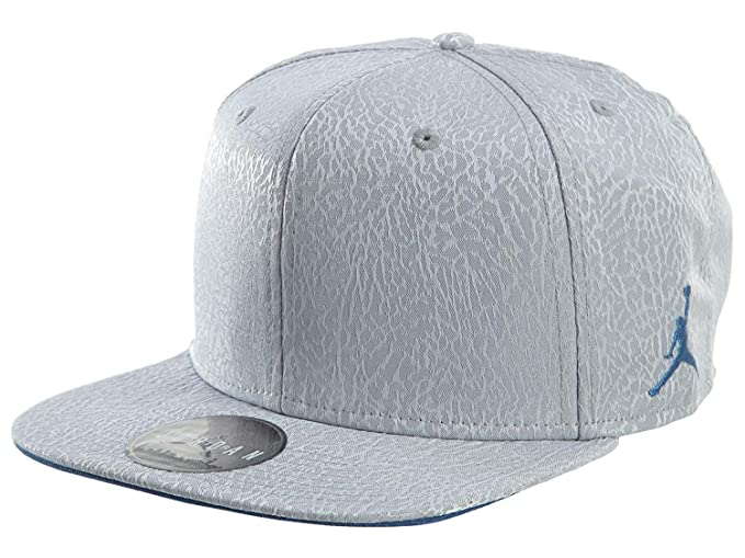 67c8a394792 Nike Mens Jordan 3 Retro Snapback Hat Cement Grey/True Blue 802029-010
