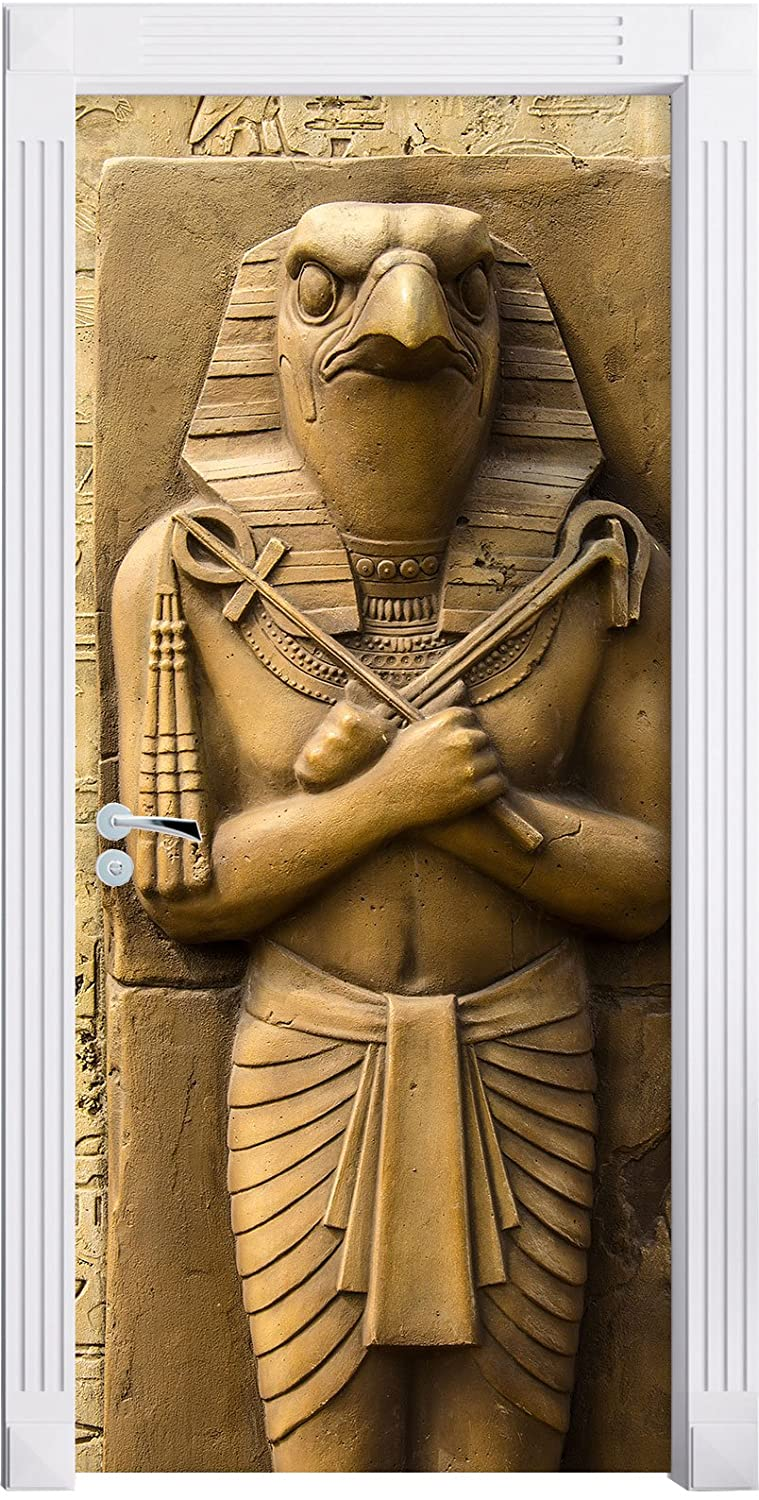 Egyptian God Horus Mural, Format: 200x90cm, door frame, door stickers, door decoration, door stickers Stil.Zeit Furniture
