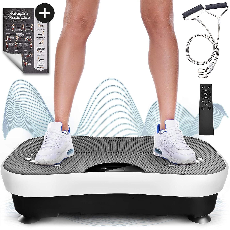 Sportstech Plataforma vibratoria VP210 Bluetooth, tecnología de oscilación para Uso doméstico, función de reflexología magnética, Cuerdas de ...