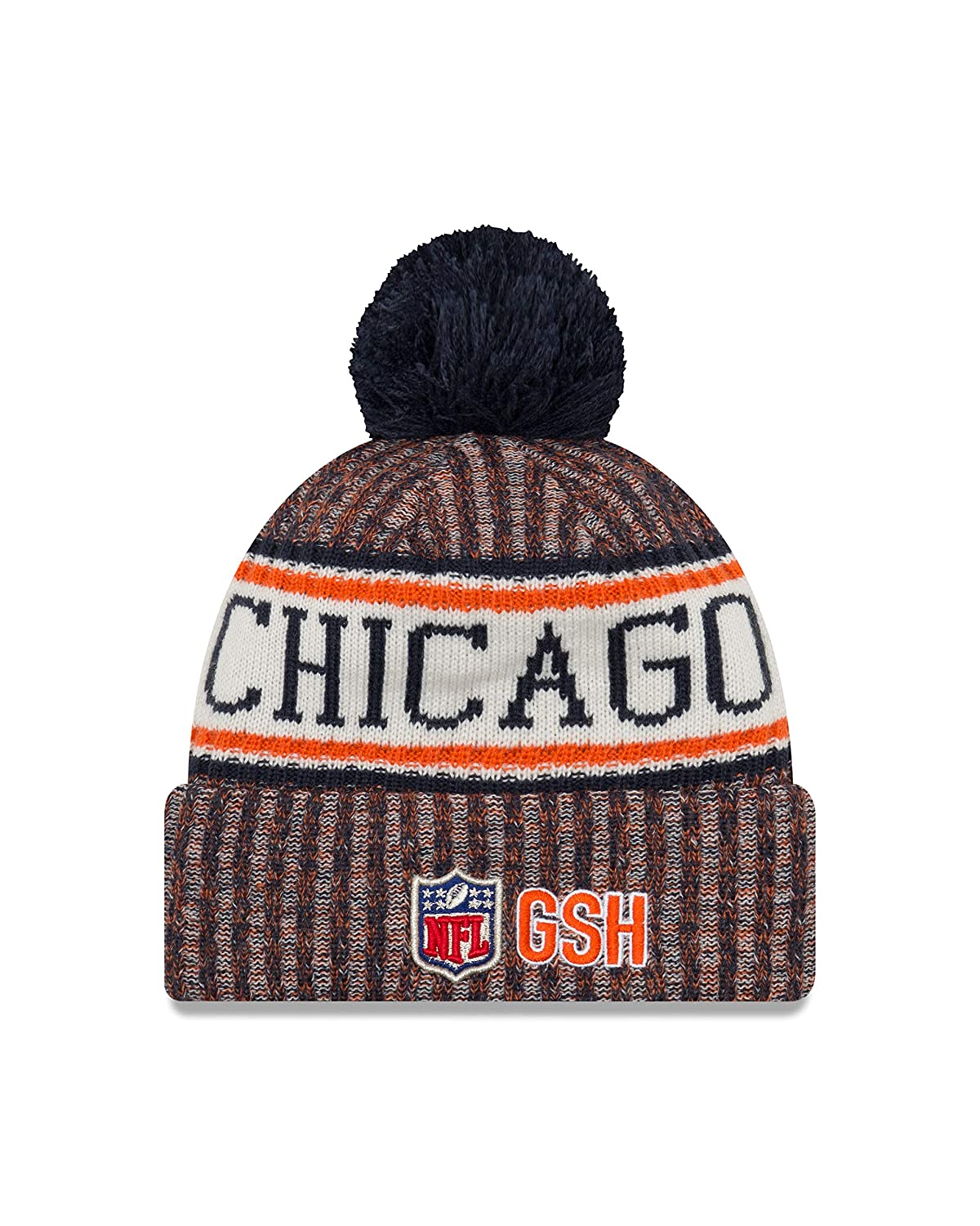 Amazon.com   New Era Chicago Bears On Field 2018 Throwback Logo Sport Knit  Hat   Sports   Outdoors 29e88250c29