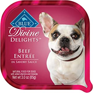 Blue Buffalo Divine Delights Beef in Sauce Wet Dog Food, 3 oz., 12 Pack