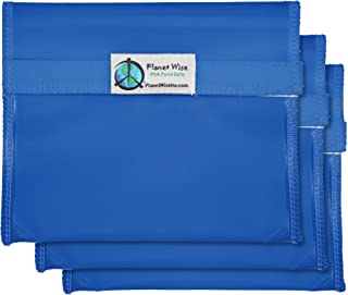 product image for Planet Wise Reusable Tint Sandwich Bag - 3-Pack - Hook and Loop (Blue)