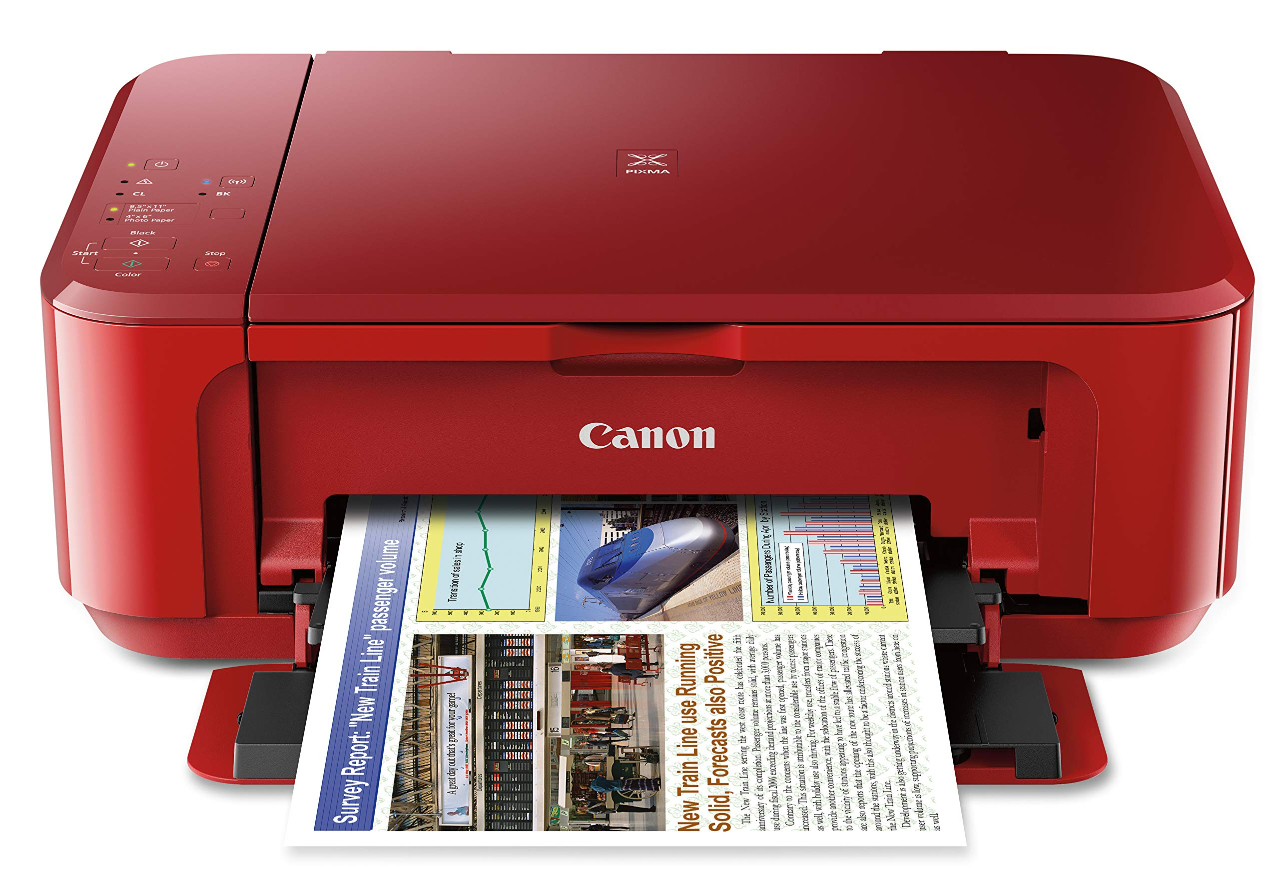 Canon PIXMA MG3620 Wireless All-In-One Color Inkjet Printer with Mobile and Tablet Printing, Red