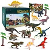 BeebeeRun Dinosaur Toys,15Pcs Large Dinosaur Toy Set,Dinosaur Toys age 3 4 5 6 7,Educational Dinosaur Figures Model Toys for Boys Girls Toddlers Kids,Gifts Boxed