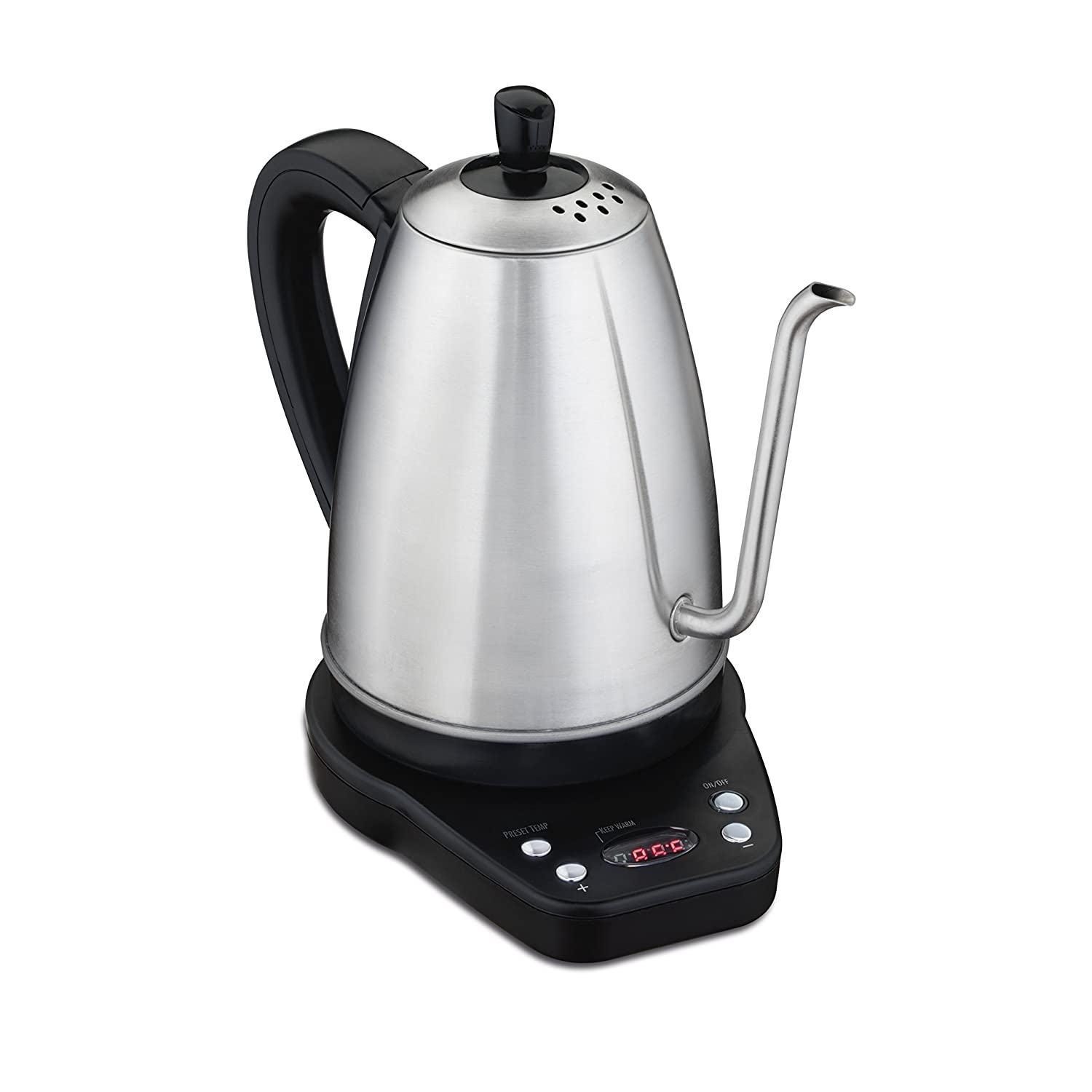 Hamilton Beach 41004 Digital Gooseneck Electric Kettle 040094410040 Silver