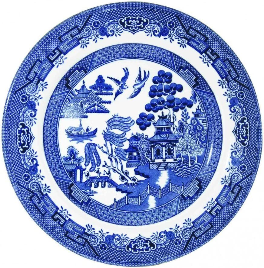 """SET OF 6 Blue Willow CHURCHILL ENGLAND  8/"""" Inch SALAD LUNCH Plates"""