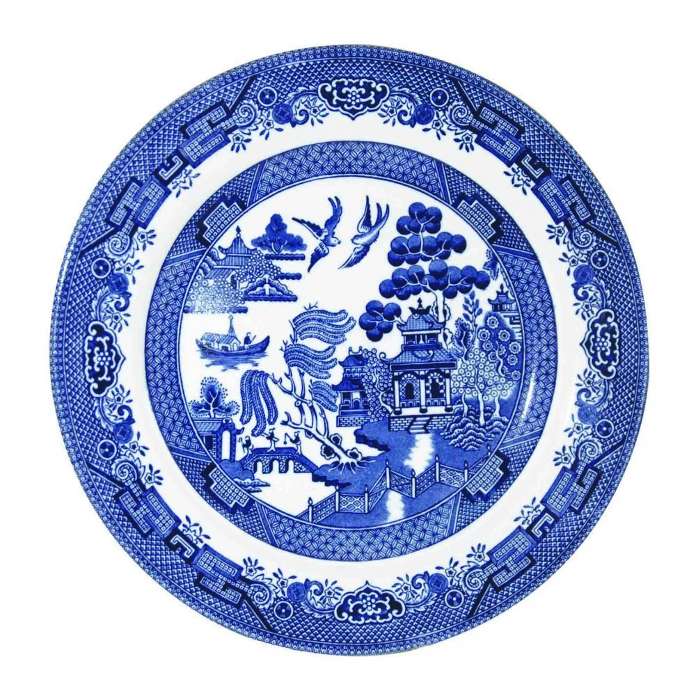 sc 1 st  Amazon.com & Amazon.com: Churchill Blue Willow Plate 8