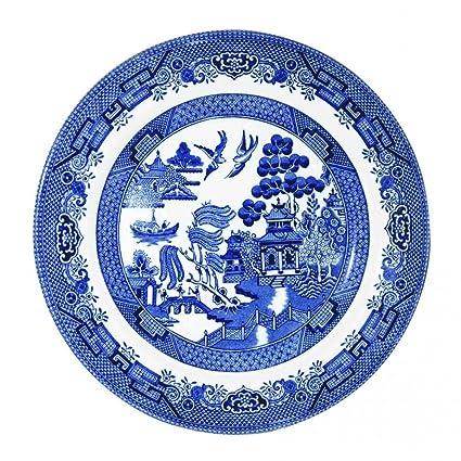 Churchill Blue Willow Plate 8u0026quot; ...  sc 1 st  Amazon.com & Amazon.com: Churchill Blue Willow Plate 8