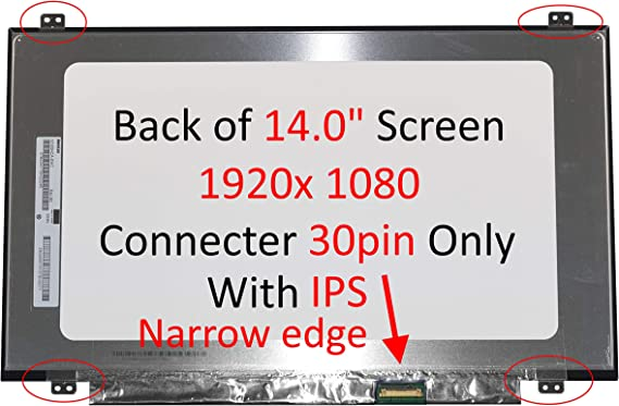 LCD LED Display with Tools SCREENARAMA New Screen Replacement for N140HCA-EAB IPS FHD 1920x1080 Glossy