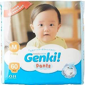 Nepia Nepia Genki Mega Pack Pants M60 - Carton of 3 packs, 180 count (Pack of 3)
