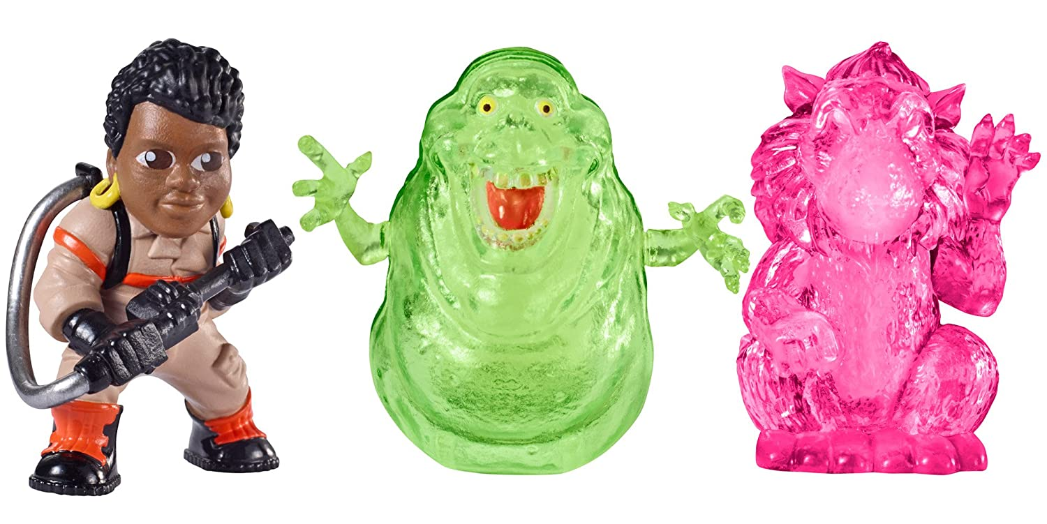 Ghostbusters Ecto Minis Figures, Figures (Patty, New Slimer, Rat Ghost) by Mattel