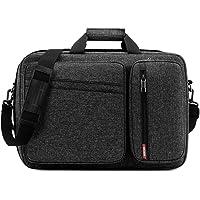 Convertible Laptop Bag Backpack,SOCKO Multi-Functional Mens Womens Water Resistant Messenger Bag Briefcase Business Travel College Laptop Shoulder Bag for Up to 17.3 Inch Laptop Computer,Dark Grey