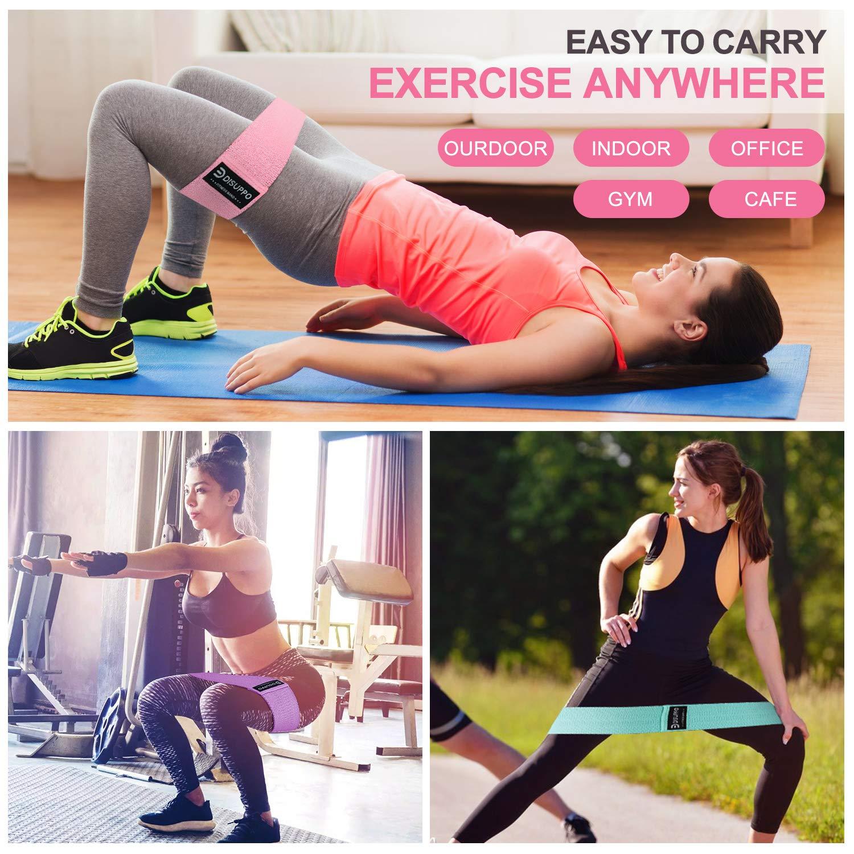 Pilates,Yoga-Training,Stretching-Physiotherapie DISUPPO Resistance Band 3er-Set,Fitness-Elastikstreifen-Hochwertiges Band f/ür Beine und Ges/ä/ß,Yoga