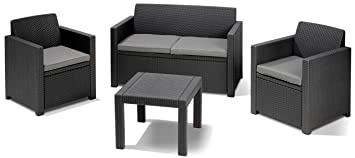 ALLIBERT Lounge Set Alabama graphite: Amazon.fr: Jardin
