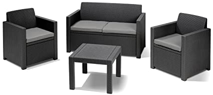 Allibert Lounge-Set Alabama 4tlg., graphit/cool grey