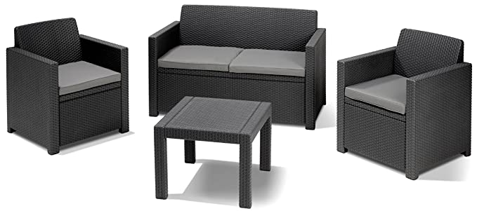 Allibert Lounge-Set Alabama 4tlg., graphit/cool grey