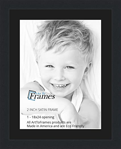 Amazoncom 18x24 18 X 24 Picture Frame Satin Black 2 Wide With