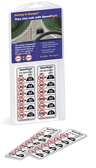 Speedright Car Or Van Speedo Windscreen Sticker Converter Amazon