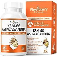 Physician's Choice 60 Capsules KSM-66 Ashwagandha Root Powder Extract