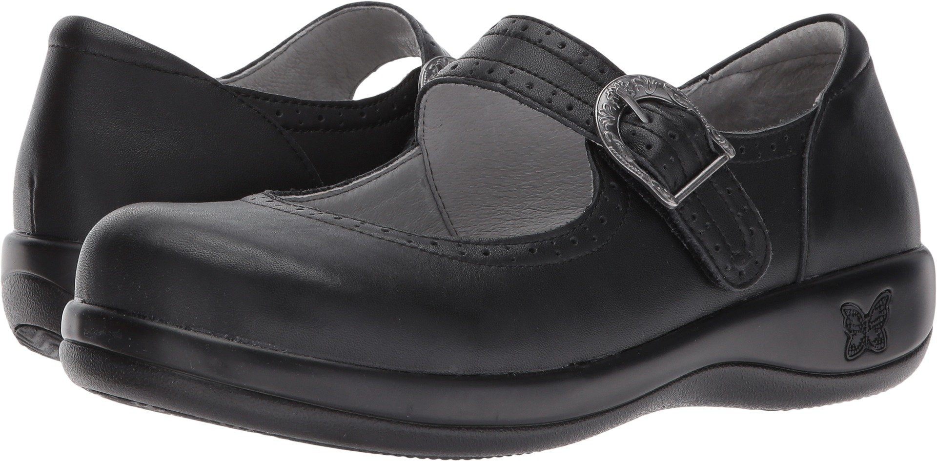 Alegria Womens Kourtney Mary Jane Black Nappa Size 41 EU (10.5-11 M US Women)