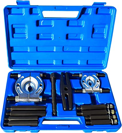 15.4 x 9.8 x 2.8 inch Portable 14Pcs Removal Bar Disassembly Tool for Repair Shops and Hobbyists AYNEFY Bearing Puller