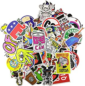 Loveliome 100 Pcs Not Repeat Laptop Stickers,Graffiti Patches Cartoon Hip Hop Logo Sticker Paper for Water Bottles, Waterproof Motorcycle Bicycle Skateboard Luggage Decal, Style 5