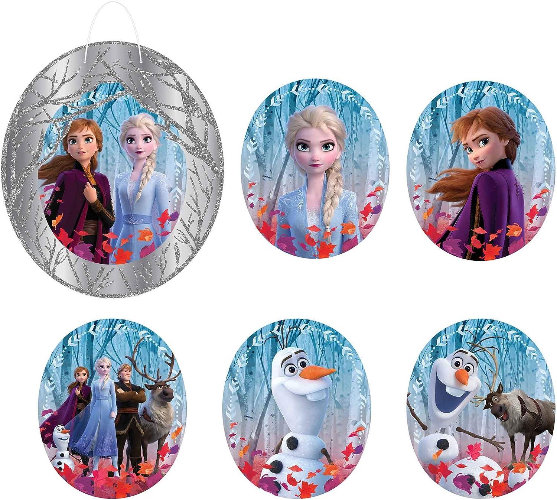 Frozen 2 Birthday, Glitter Wall Frame Decoration Kit, 7 Ct.